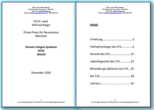 Dr Bieger - CFS Aktuell